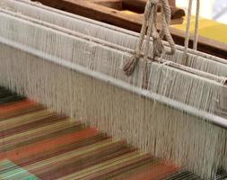 Close-up of a loom