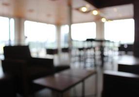 Blurry restaurant backdrop