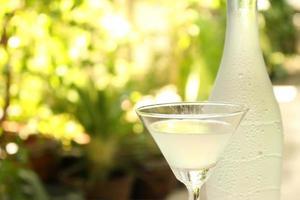 copa de martini fuera foto