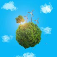 concepto de energía verde foto