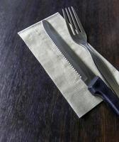 Silverware and napkin