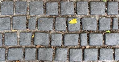 Black cobblestone ground photo