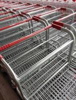 Group of shopping carts