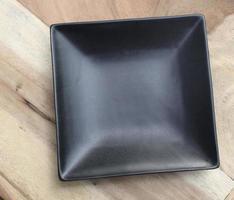 Black square plate photo