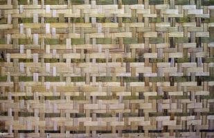 textura de bambú tejido foto