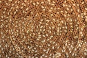 Spiral woven basket