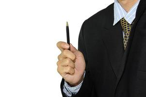 Businessman holding a pen