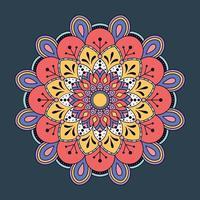 Hand drawn colorful mandala background. vector