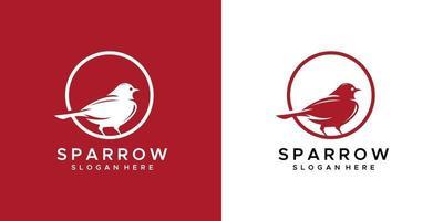 Sparrow logo design template vector