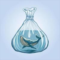 las ballenas no son gráficos de ilustración gratis vector
