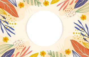 Colorful Hand-Drawn Floral Background vector