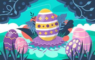 Easter Eggs Hard to Find vector