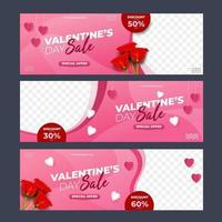 Collection of Valentine's Day Sale vector
