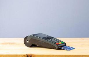 máquina de tarjeta de crédito foto