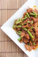 Pork fried lentils, Thai food photo