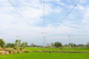 High voltage poles photo
