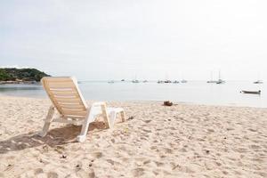 Sunbathing bed on the beach