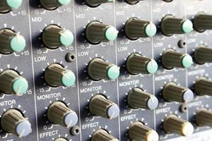 Close-up of mixer dials