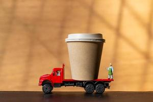 To go coffee delivery concept