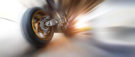 movimiento de velocidad de moto foto