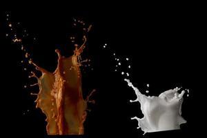 Milk and coffee splashes