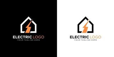 Electric logo design template vector