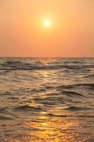 Sunrise at the sea photo