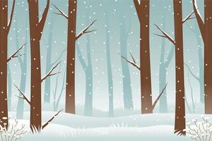 Winter Forest Jungle Background vector