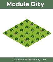 parque verde isométrico 3d vector