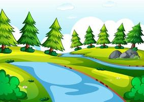 Empty park landscape scene vector