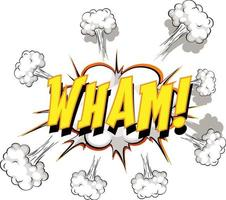 bocadillo de diálogo cómico con texto wham vector