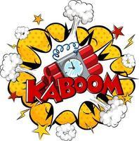 bocadillo de diálogo cómico con texto kaboom