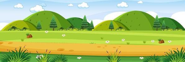 Outdoor meadow landscape scene vector