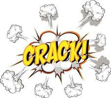 bocadillo de diálogo cómico con texto crack vector