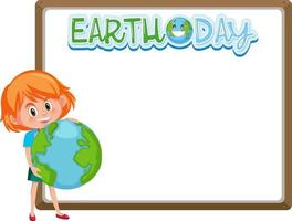 Border frame template with earth day theme background