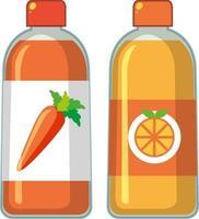 Botella de jugo saludable sobre fondo blanco. vector