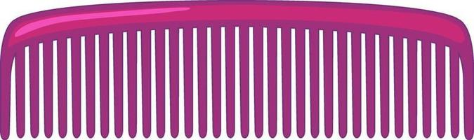 Simple hair comb on white background vector