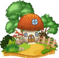 Isolated mushroom house in nature vector