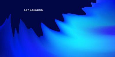 Concepto de fondo degradado líquido azul abstracto para su diseño gráfico vector