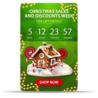 Christmas sales vertical banner vector