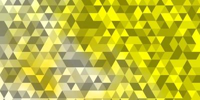 Light Green, Yellow vector template with crystals, triangles.