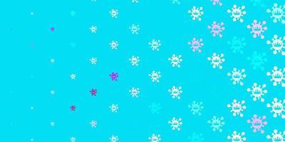 textura de vector azul claro, rojo con símbolos de enfermedades.