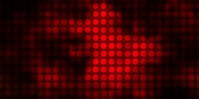 textura de vector naranja oscuro con círculos.