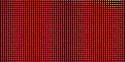 Telón de fondo de vector naranja claro con círculos.