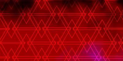 Fondo de vector rosa claro con triángulos.