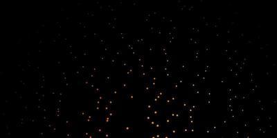 Fondo de vector naranja oscuro con estrellas pequeñas y grandes.