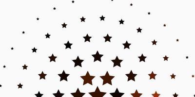 diseño de vector naranja claro con estrellas brillantes.
