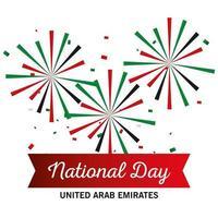 Uae national day fireworks vector design