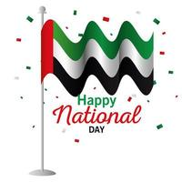 Uae national day with flag vector design