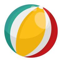 plastic balloon beach isolated style icon vector